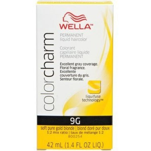 Wella Permanent Liquid Hair color, Soft Pure Gold Blonde, 1.4oz/42mL