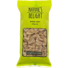 Banana Chips 300G - Natures Delight - Virgara Fruit & Veg