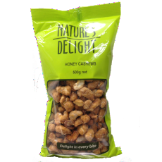 Honey Cashews 500G - Natures Delight - Virgara Fruit & Veg