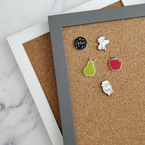 Framed Mini Cork Board for Enamel Pin Displays