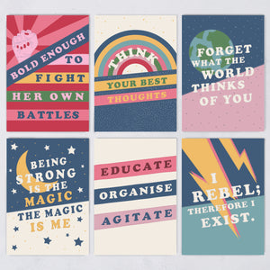 Empowering Quotes - 12 Postcard Set - PC4