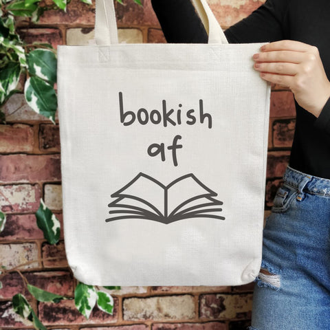 TB03 Bookish Large Tote Bag - Bookish af