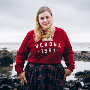 Varsity Style Shakespeare 'Verona' Book Lover Sweatshirt