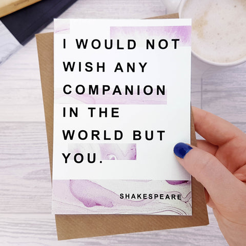 Greeting card - Literary Marble Anniversary - Companion - Shakespeare - 303