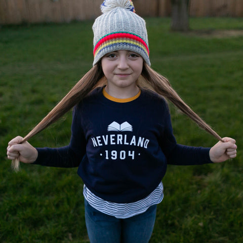 Peter Pan 'Neverland' Varsity Style Children's Sweatshirt.