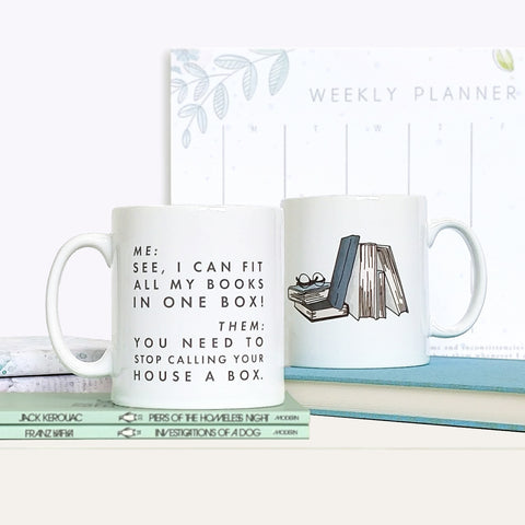 Funny 'I Can Fit All My Books' Relatable Mug