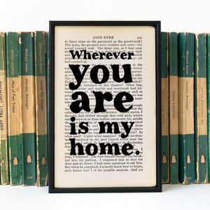 Jane Eyre - Wherever You Are Is My Home - Book Page - BOOK 69