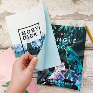 'Moby Dick' & 'The Jungle Book' A5 Notebook Set - 3 sets per pack