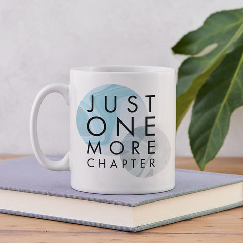 "Literary Mug - ""Just One More Chapter"" - Marble Design"
