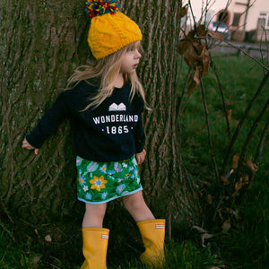 Children's 'Wonderland' Varsity Style Literary Sweatshirt