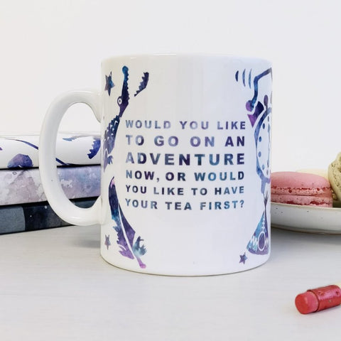 Peter Pan 'Adventure or Tea' Mug