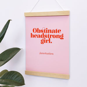Obstinate Headstrong Girl Poster