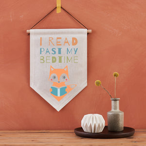 "Scandi ""Read Past My Bedtime"" Children's Pennant"