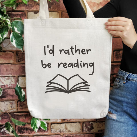 TB05 Bookish Large Tote Bag - I'd rather be reading