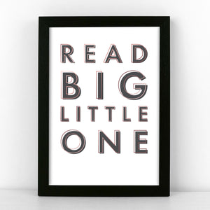 Black & Copper - Read Big Little One - Sans Print - SANS-B-03