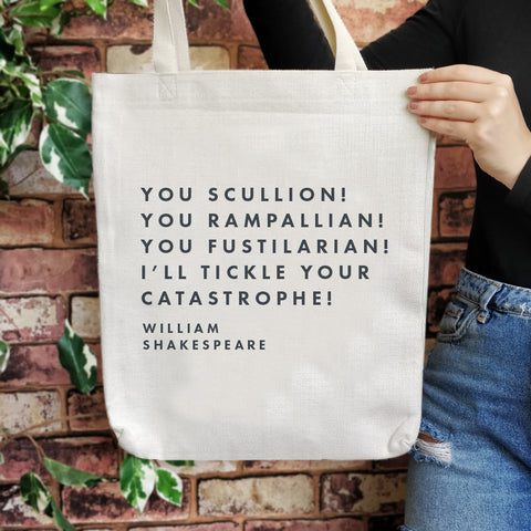 TB25 Shakespeare Insult Large Tote Bag - You Scullion