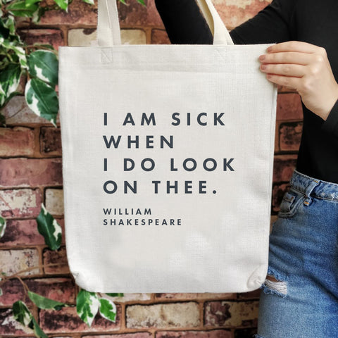 TB23 Shakespeare Insult Large Tote Bag - I am sick