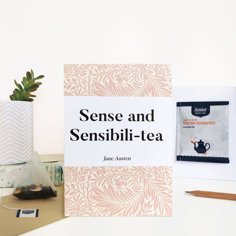 Greeting Card With Tea Bag - 'Sense & Sensibili-tea' - 371