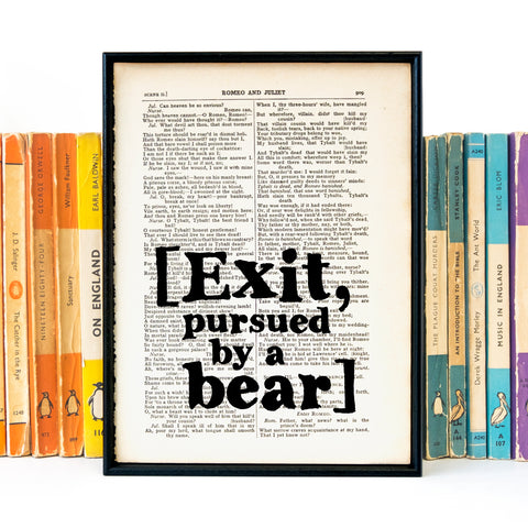Shakespeare - Exit, Pursued By A Bear - Book Page - BOOK 09