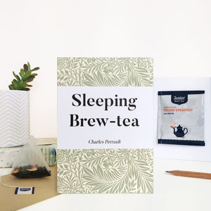 Greeting Card With Tea Bag - 'Sleeping Brew-Tea' - 372