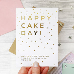 Greeting card - Happy Cake Day - Foil Card - 341