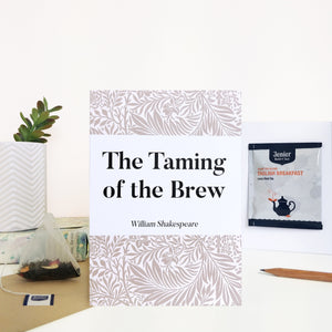 Greeting Card With Tea Bag - 'Taming Of The Brew' - 373