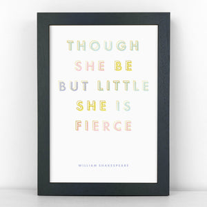 Pastel & Gold - Little But Fierce - Shakespeare - Sans Print - SANS-P01
