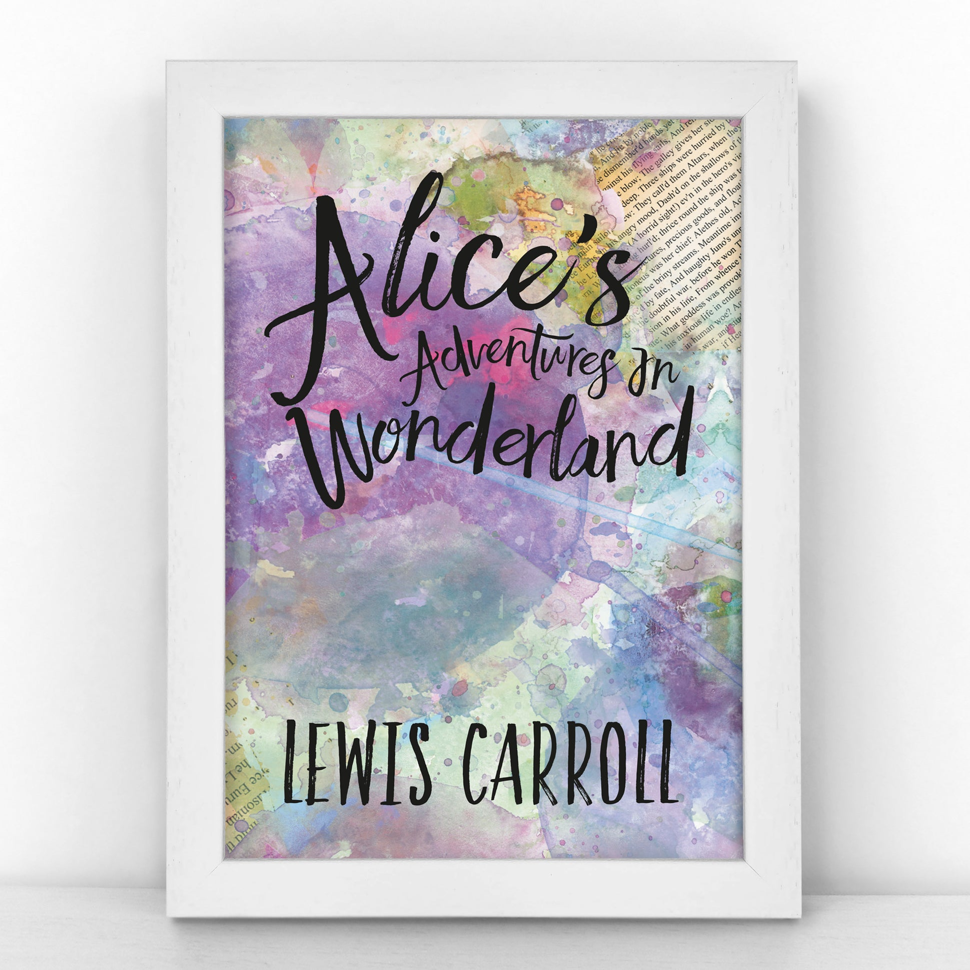 "Book Cover Print - ""Alice in Wonderland"" Lewis Carroll - BKCOV199"