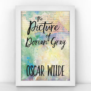 "Book Cover Print - ""The Picture of Dorian Gray"" Oscar Wilde - BKCOV359"