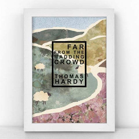 "Book Cover Print - ""Far From the Madding Crowd"" Thomas Hardy - BKCOV357"