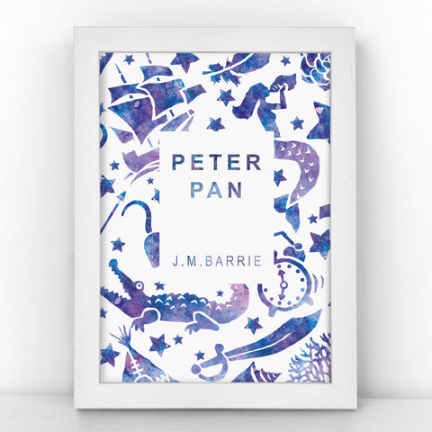 "Book Cover Print - ""Peter Pan"" J. M. Barrie - BKCOV499"