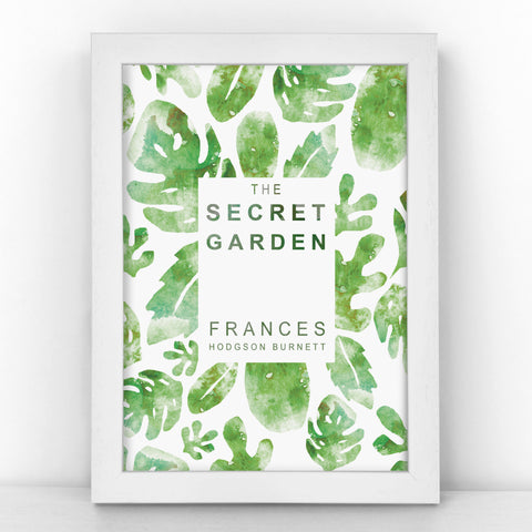 "Book Cover Print - ""The Secret Garden"" Frances Hodgson Burnett - BKCOV360"
