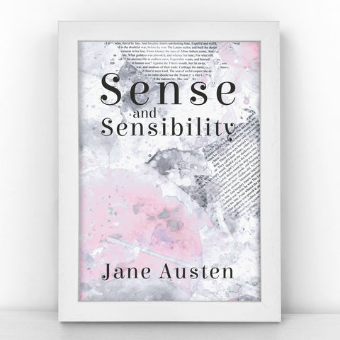 "Book Cover Print - ""Sense and Sensibility"" Jane Austen - BKCOV355"