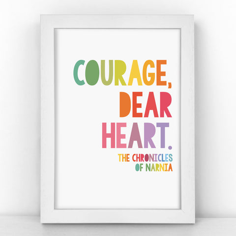"CS Lewis ""Courage, Dear Heart"" - Inspirational Quote - Children's Print - CM380-R/M"