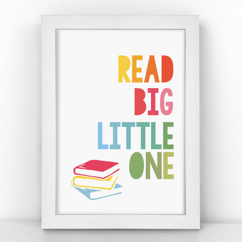 """Read Big, Little One"" - Book Lover Quote - Children's Print - CM381-R/M"