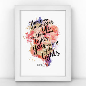 Dracula - One Of The Lights - Watercolour Print - BLOTWCOL389
