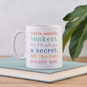 Alice in Wonderland Gift - Bonkers Mug - Rainbow
