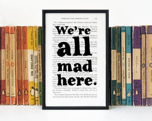 Alice in Wonderland - We're All Mad Here - Book Page - BOOK 54