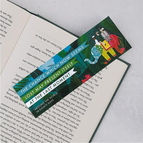 Pack of 25 Around the World in Eighty Days Bookmarks
