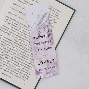 Pack of 25 Between The Pages Of A Book Bookmarks
