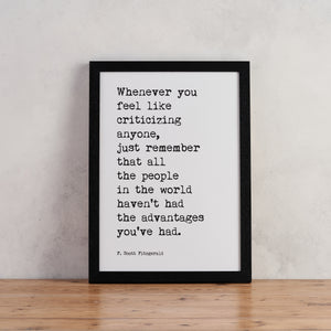 """Whenever you feel"" Typewriter Print - TYPE3"