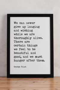 """We can never give up"" Typewriter Print - TYPE5"