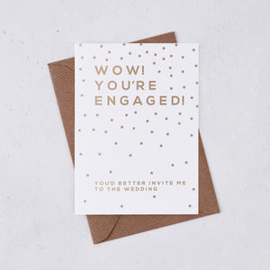 Greeting card - Wow You're Engaged - Foil Card - 327