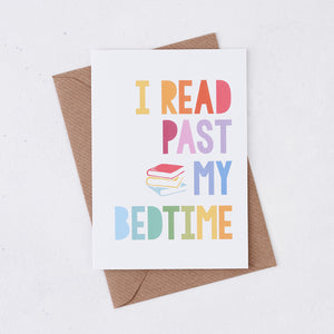 Rainbow 'I Read Past My Bedtime' Book Lover Card - 348