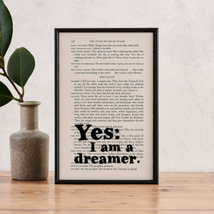 Oscar Wilde Quote - Yes: I Am A Dreamer - Book Page - BOOK 142