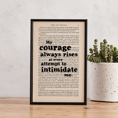 Pride & Prejudice - My Courage Always Rises - Book Page - BOOK 143