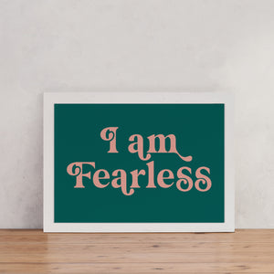 "Retro Style ""I Am Fearless"" - Empowering Art"