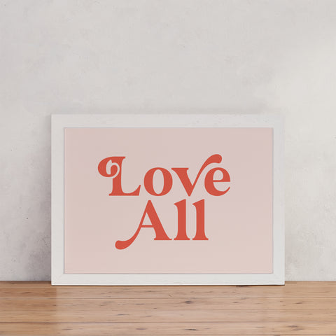 "Retro Style ""Love All"" - Empowering Art"