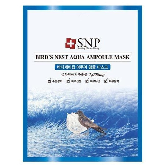 SNP Birds Nest Aqua Ampoule Mask
