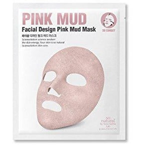 So Natural Facial Design Pink Nude Mask